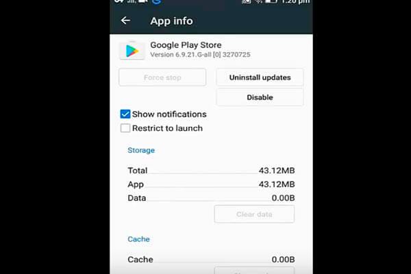 Change google play store storage location